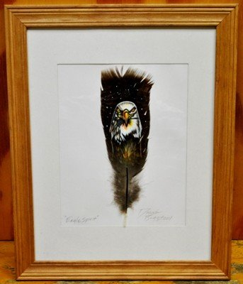 14: Navajo Eagle Feather Painting - Eagle Spirit - Don