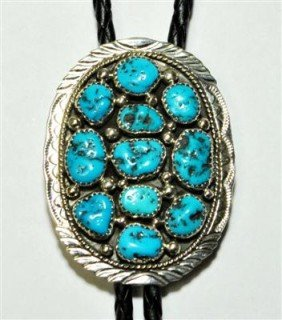 18: Navajo Sleeping Beauty Turquoise Sterling Silver B