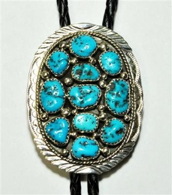 18: Navajo Sleeping Beauty Turquoise Sterling Silver B