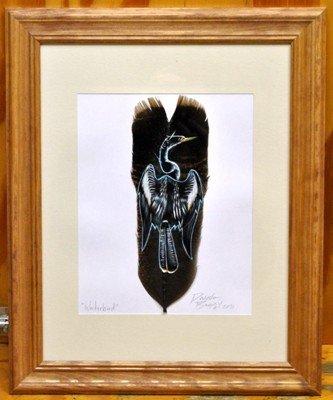 21: Navajo Bird Feather Painting - Waterbird - Donovan