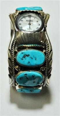 547: Navajo Sleeping Beauty Turquoise 6-Stone Sterling