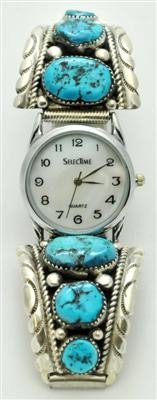 551: Zuni Sleeping Beauty Turquoise Men's Watch - Rober