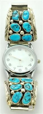 555: Navajo Sleeping Beauty Turquoise Men's Watch