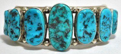 16: Old Pawn Sleeping Beauty Turquoise Sterling Silver