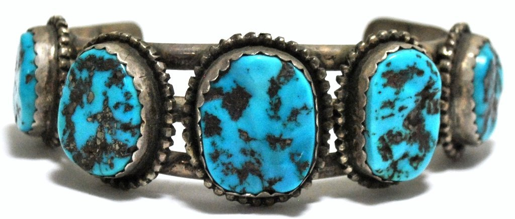 7: Old Pawn Sleeping Beauty Turquoise Sterling Silver C