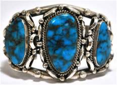 173: Old Pawn Smokey Valley Turquoise Sterling Silver C