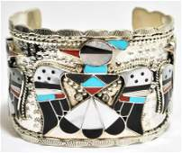 573 Zuni MultiStone Inlay Thunderbird Sterling Silver