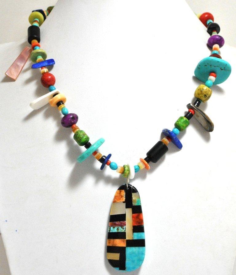 Santo Domingo Multi-Stone & Shell Necklace - Delbert &