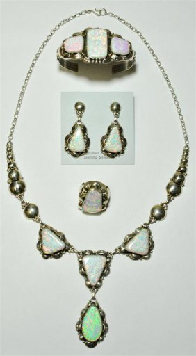Navajo White Opal 4-Piece Set - Clem Nalwood