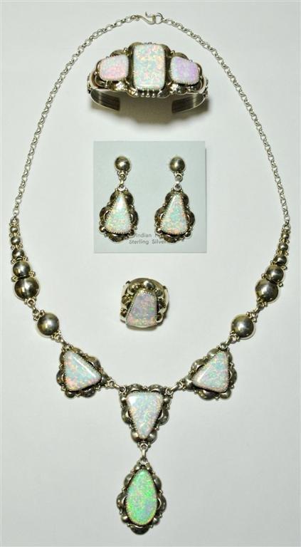 Navajo White Opal 4-Piece Set - Clem Nalwood