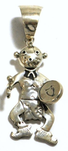 Old Pawn Sterling Silver Mud Head Pendant - JT?