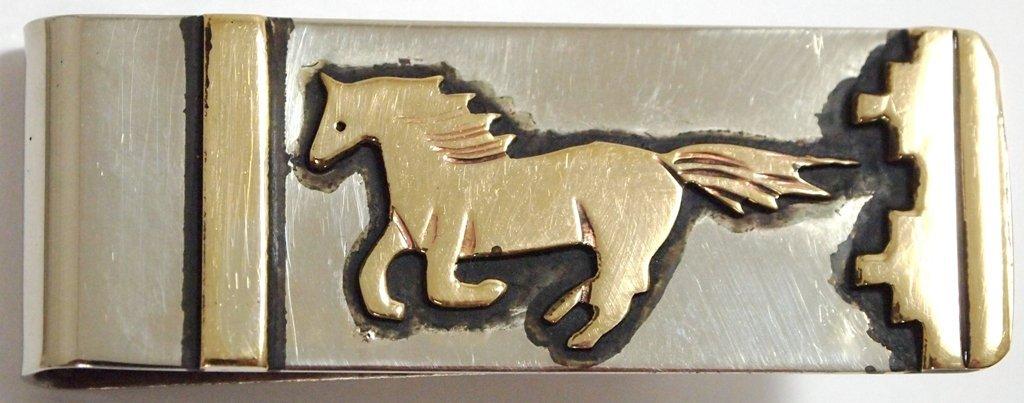 Navajo 12k Gold Fill Running Horse Money Clip - Tommy S