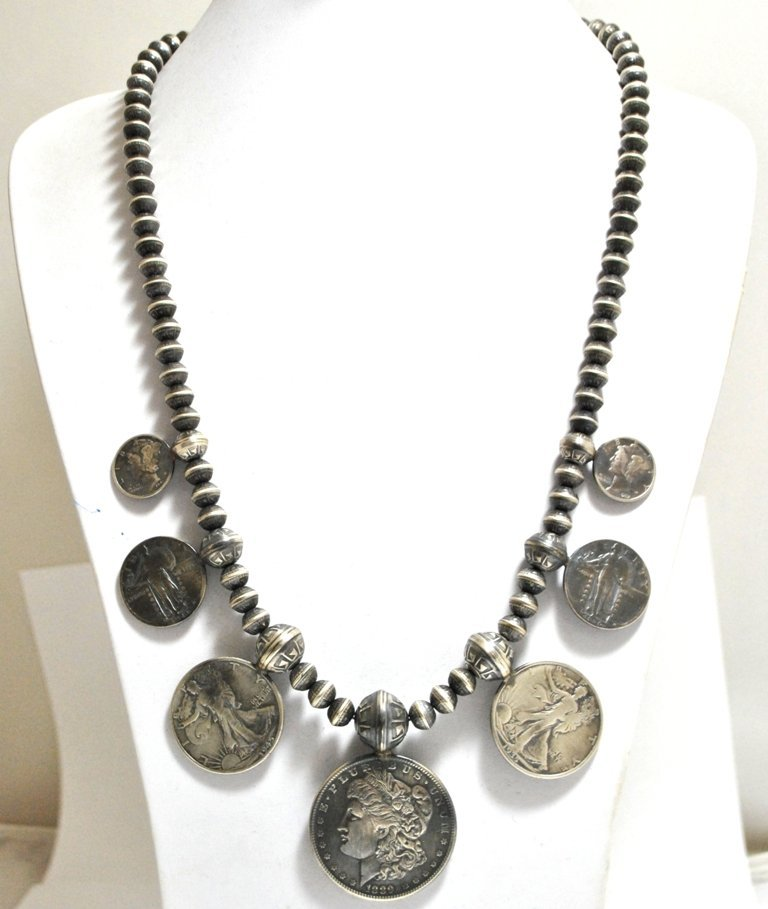 Old Pawn US Coins Sterling Silver Necklace - Paul Livin