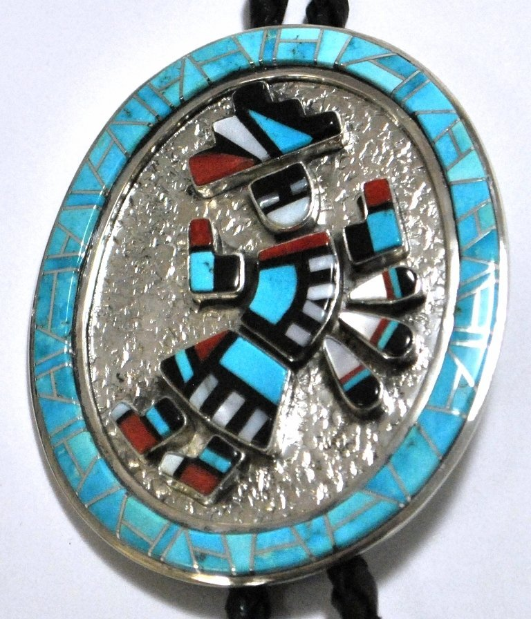 Old Pawn Navajo Multi-Stone Rainbow Kachina Sterling Si