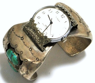 Old Pawn Turquoise Sterling Silver Cuff Bracelet Women'