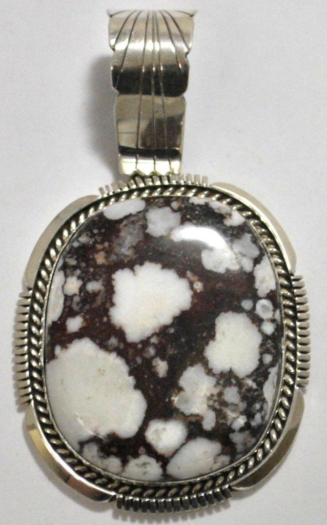 Navajo Wild Horse Sterling Silver Pendant - Eugene Belo