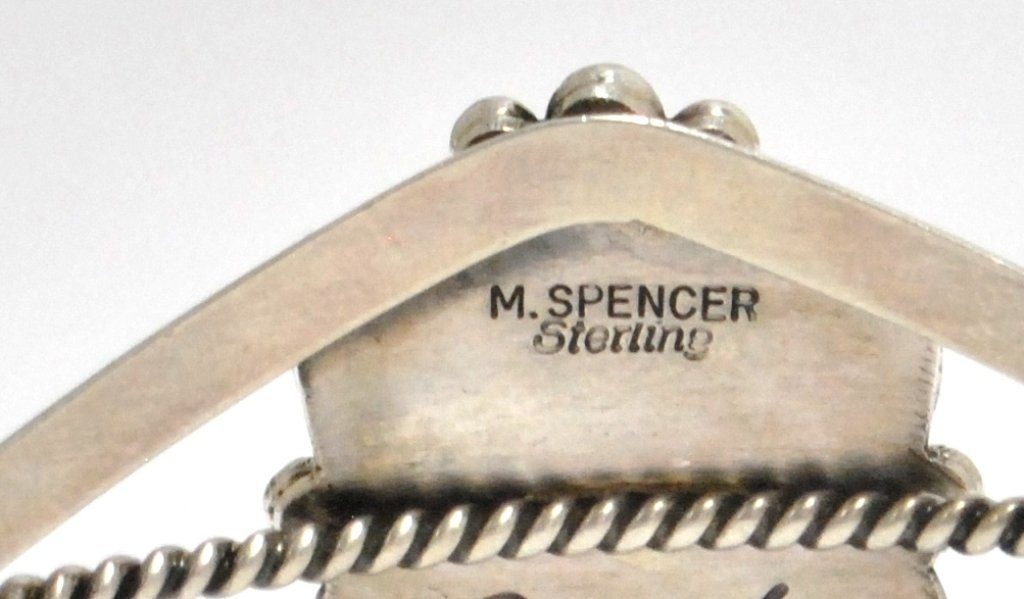 Navajo Larimar Sterling Silver Cuff Bracelet - Mary Ann - 3