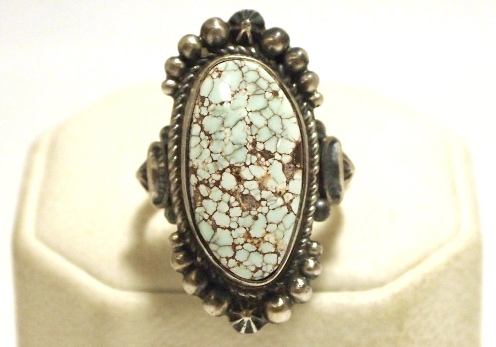 Old Pawn Navajo Dry Creek Turquoise Sterling Silver Wom