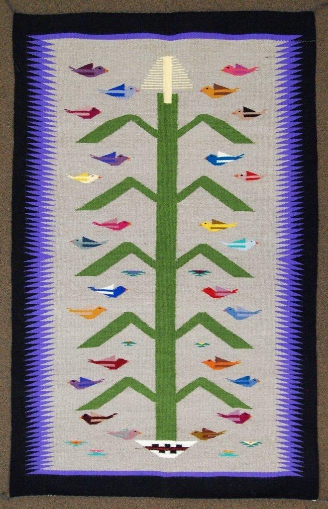 Navajo Multi-Color Tree of Life Rug - Glorilene Harriso