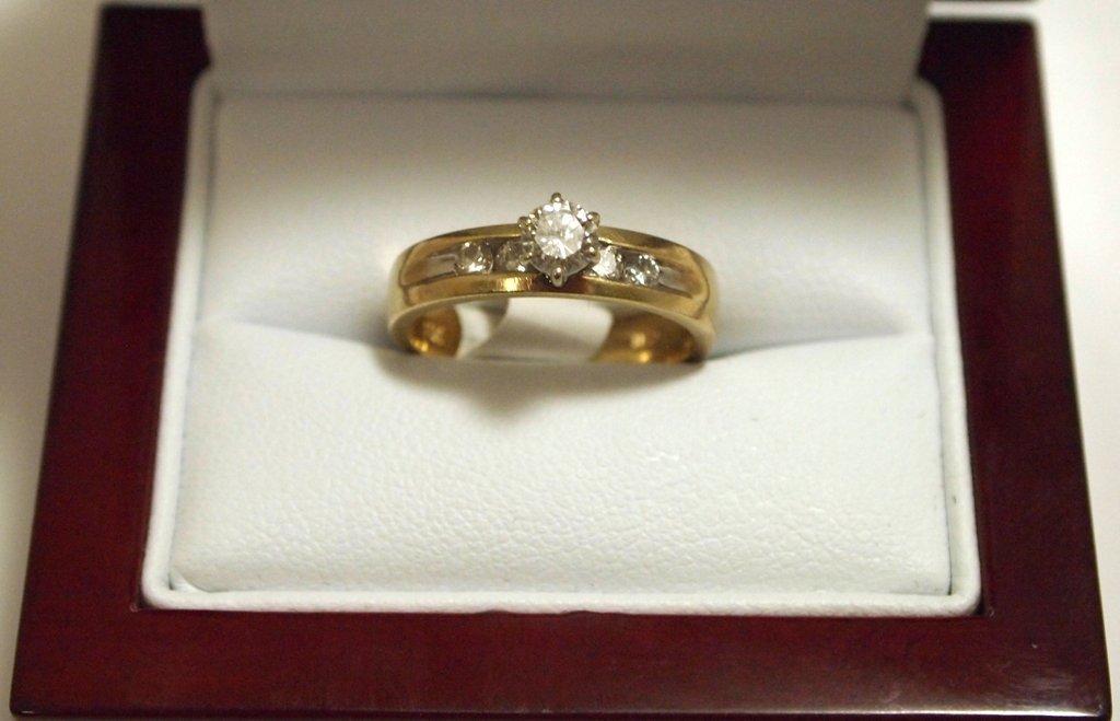 Dead Pawn Non-Native Diamond 14k Gold Women's Ring - CB
