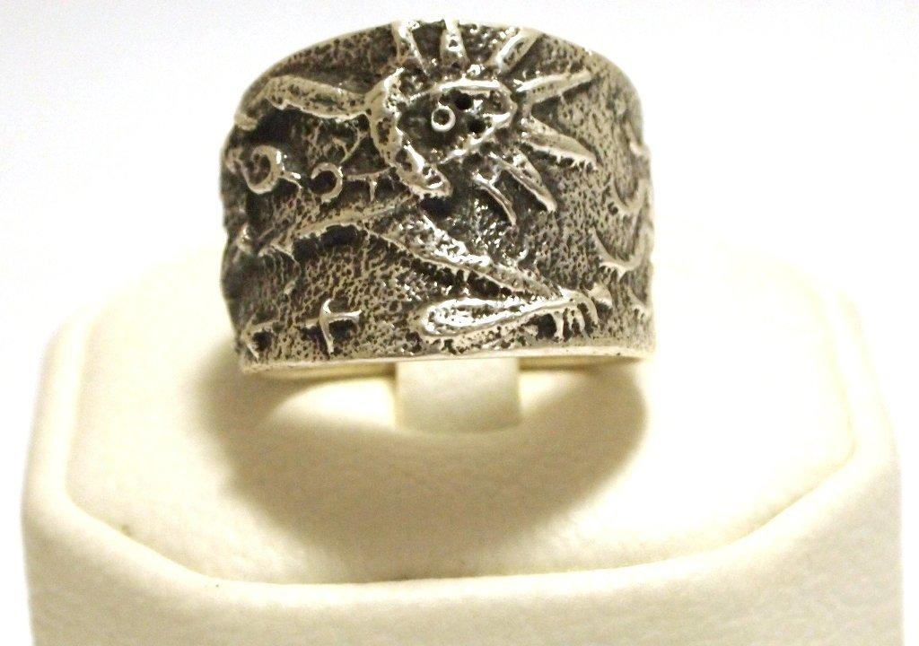 Navajo Sterling Silver Kachina Men's Ring - Philander B