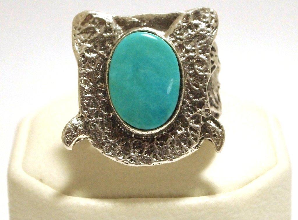 Navajo Turquoise Sterling Silver Men's Ring - Philander