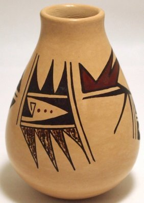 Hopi Smooth Painted Pottery - HJR (Son of Frogwoman)