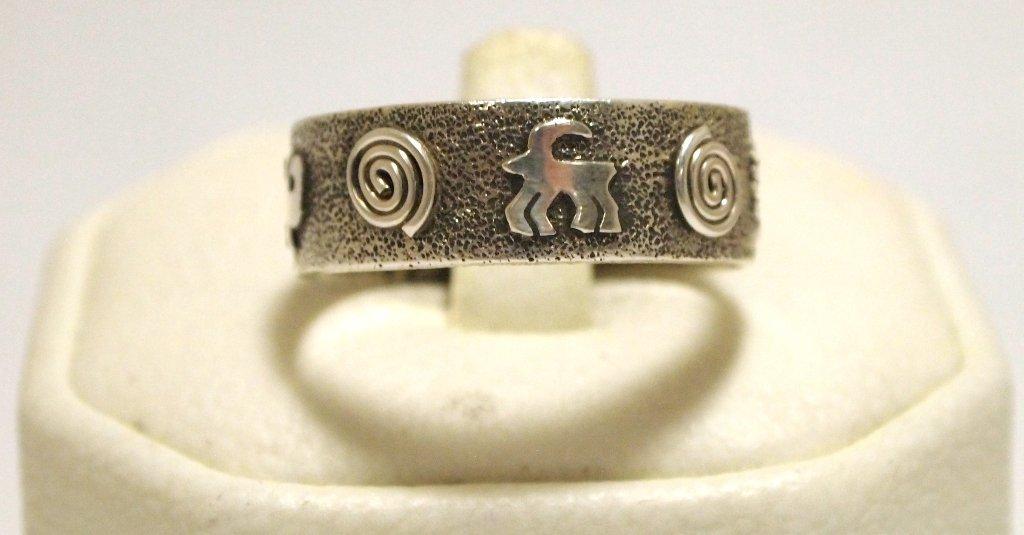 Navajo Sterling Silver Men's Ring - Scott Skeets