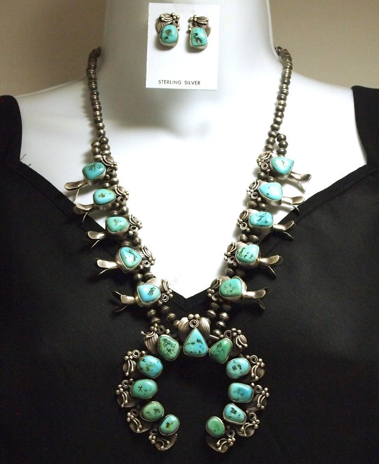 Old Pawn Navajo Sleeping Beauty Turquoise Sterling Silv