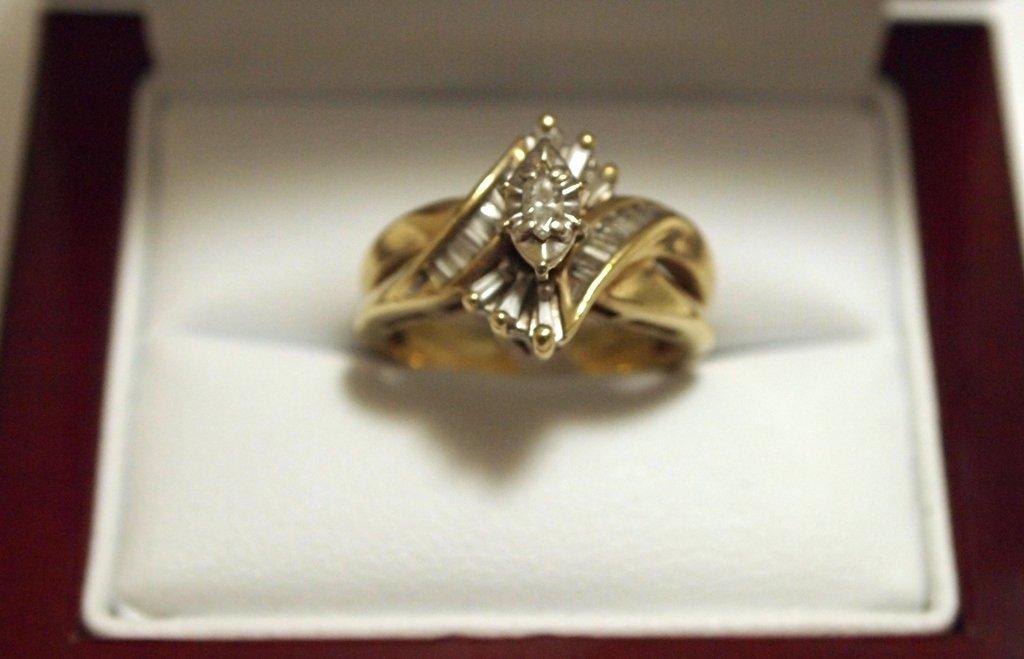 Dead Pawn Non-Native Diamond 10k Gold Women's Ring - IK