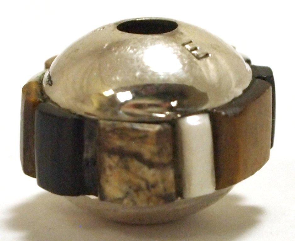 Navajo Multi-Stone Inlay Sterling Silver Pendant - Edis