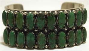 Old Pawn Navajo Emerald Valley Turquoise Sterling Silve