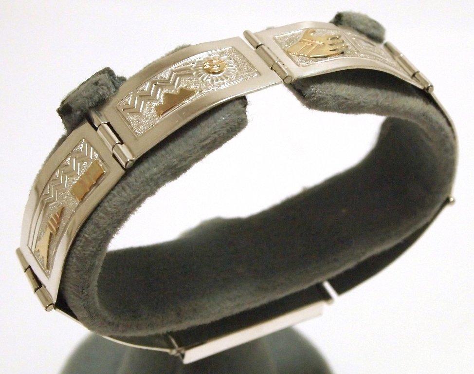 Navajo 12k Gold Fill over Sterling Silver Link Bracelet