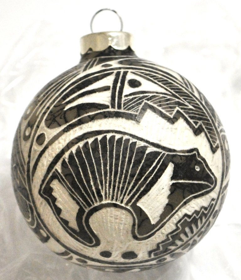 Navajo Bear Horsehair Christmas Tree Ornament - Elaine