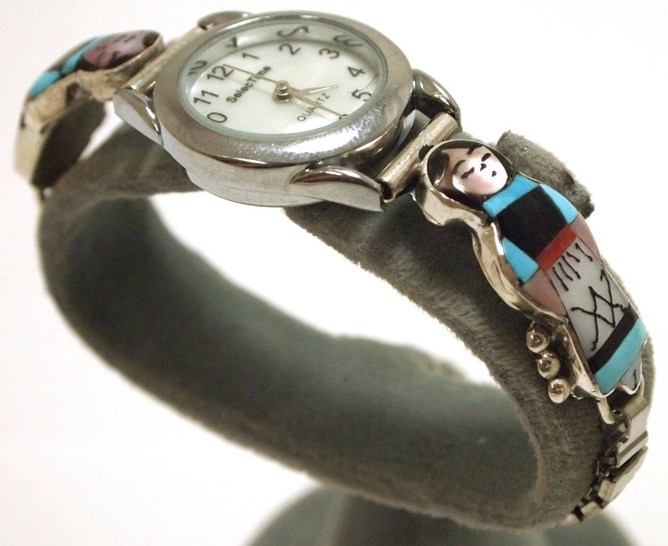 Zuni Multi-Stone Inlay Maiden Sterling Silver Women's W