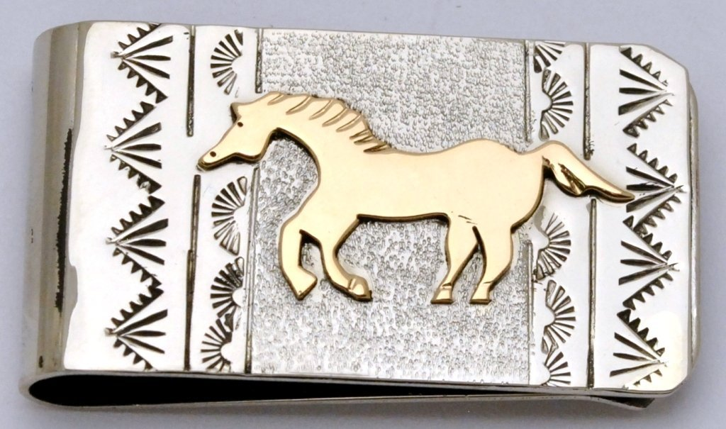 Navajo 12k Gold Fill over Sterling Silver Running Horse