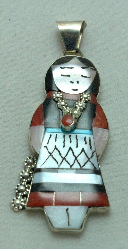 Zuni Multi-Stone Female Pendant