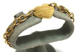 Old Pawn 18k Gold 750 Heart Link Bracelet - Tiffany & C