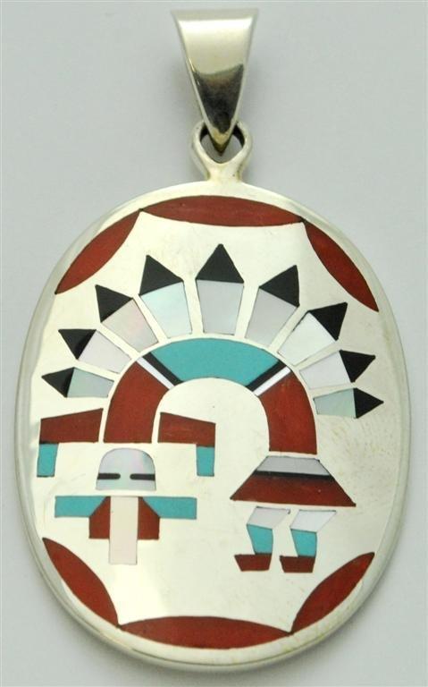 Zuni Multi-Stone Rainbow Kachina Pendant - Fred & Lolit