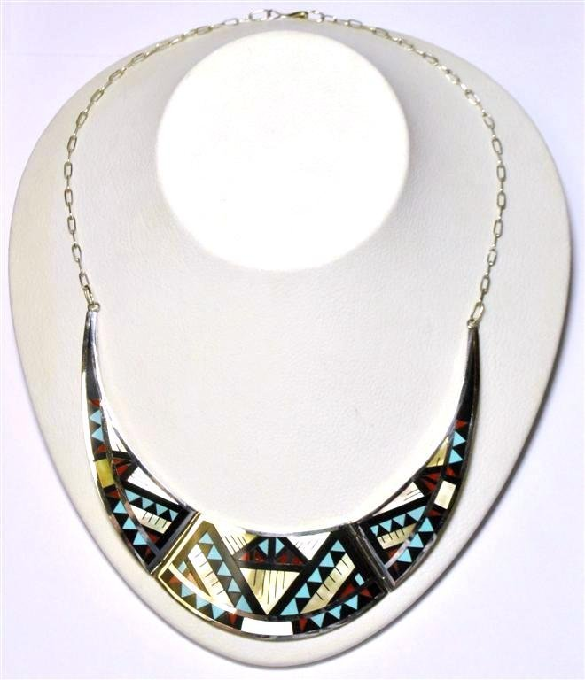 Zuni Multi-Stone Inlay Necklace - Marylita Boone