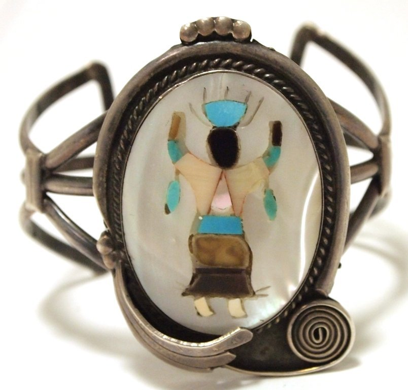 Vintage Old Pawn Zuni Multi-Stone Inlay Apache Dancer