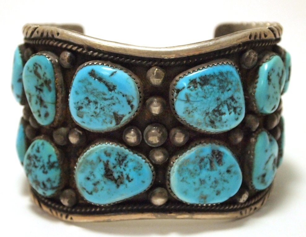 Vintage Old Pawn Navajo Sleeping Beauty Turquoise