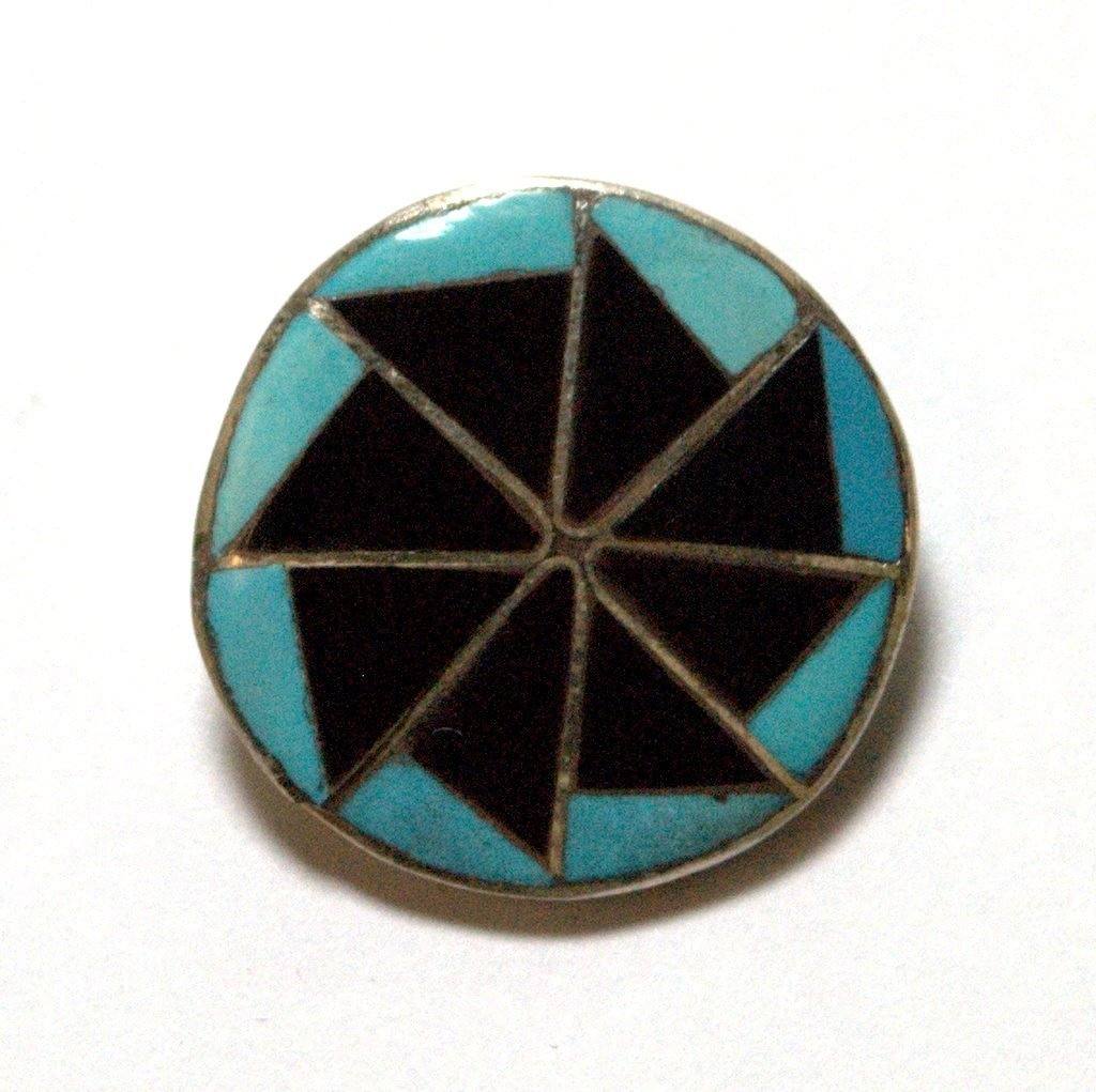 Zuni Onyx and Turquoise Pendant & Pin