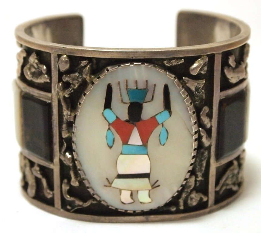 Vintage Old Pawn Zuni Multi-Stone Inlay Kachina