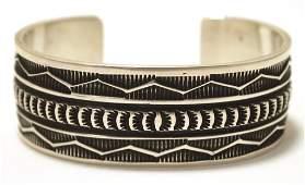 Navajo Sterling Silver Cuff Bracelet - Sunshine Reeves