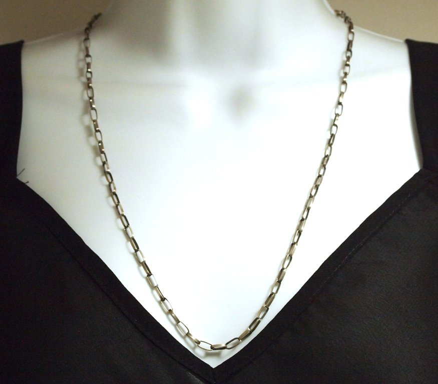 Navajo 24 Sterling Silver Handmade Link Necklace Chain