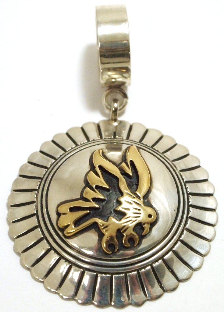 Navajo 12k Gold Fill over Sterling Silver Eagle Pendant