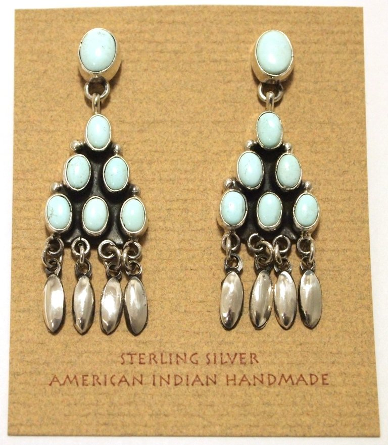 Navajo Dry Creek Turquoise Sterling Silver Post