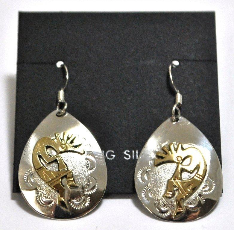 Navajo 12k Gold Filled Kokopelli Sterling Silver French