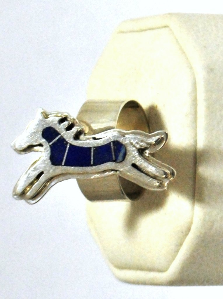 Navajo Lapis Lazuli Inlay Horse Sterling Silver Women's